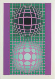 Victor Vasarely - abstrait composition 27