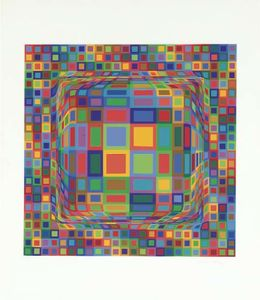 Victor Vasarely - abstrait composition 30