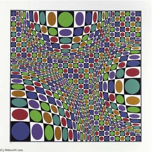 Victor Vasarely - abstrait composition 4