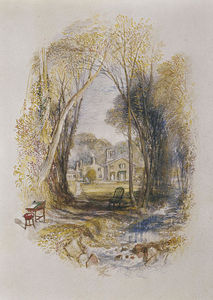 William Turner - chiefswood cottage à abbotsford