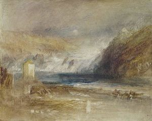 William Turner - Chutes du Rhin à Schaffhouse frontale  vue