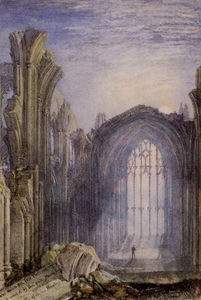 William Turner - L abbaye de Melrose