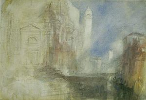 William Turner - Le Grand Canal par de  la  salut  venise