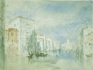 William Turner - le palazzo balbi sur le grand canal , Venise