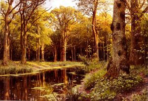 Peder Mork Monsted - une forêt ruisseau