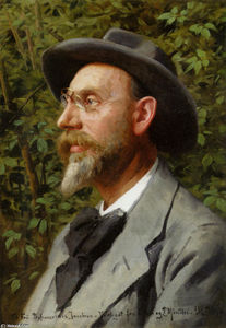 Peder Mork Monsted - Portraet Af professeur Jacobsen