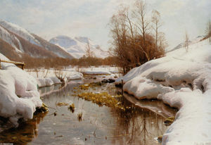 Peder Mork Monsted - Snedaekket Flodbred