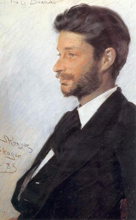 Georg Brandes, huile de Peder Severin Kroyer (1851-1909, Norway)