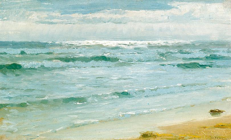 Mar en Skagen, huile de Peder Severin Kroyer (1851-1909, Norway)