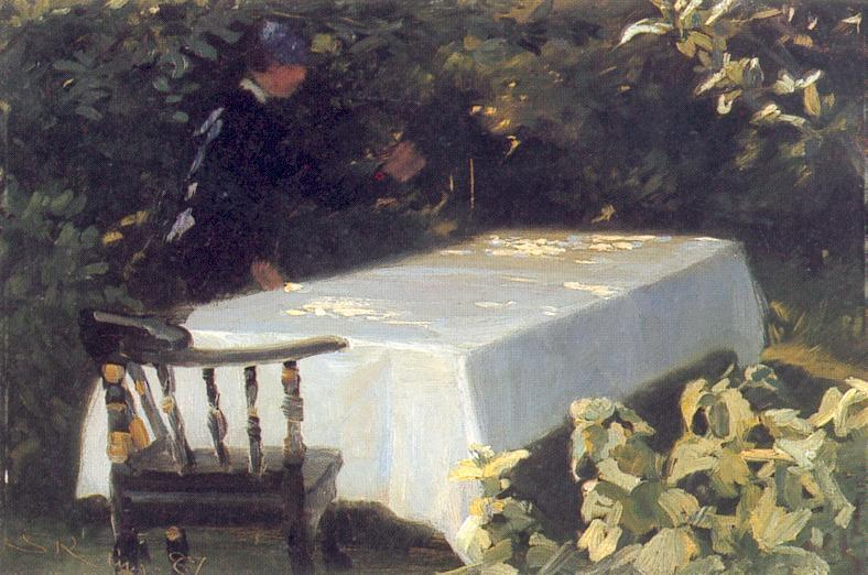Mesa en el Jardín de Peder Severin Kroyer (1851-1909, Norway) | Reproduction Peinture | WahooArt.com