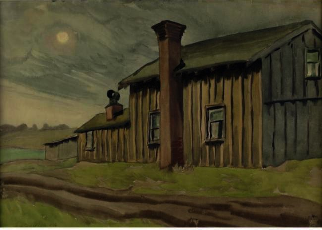 Skies Bleak de Charles Ephraim Burchfield (1893-1967, United States) |  | WahooArt.com