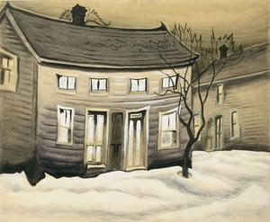 Charles Ephraim Burchfield - Cat Eyed Maison