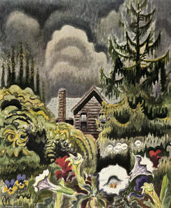 Charles Ephraim Burchfield - Moonflowers au crépuscule