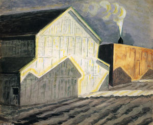 Charles Ephraim Burchfield - Noon Whistle En Janvier