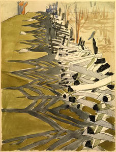 Charles Ephraim Burchfield - Clôture de perches