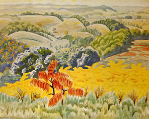 Charles Ephraim Burchfield - Red Sumac Et la verge d or