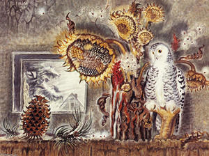 Charles Ephraim Burchfield - nature morte en hiver