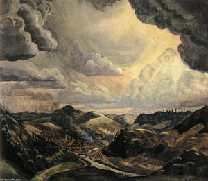 Charles Ephraim Burchfield - Storm Over Irondale