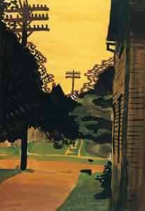 Charles Ephraim Burchfield - Jaune Afterglow