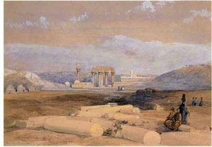 David Roberts - ruines de d Erment ( ancient hermontis ) , haute-egypte