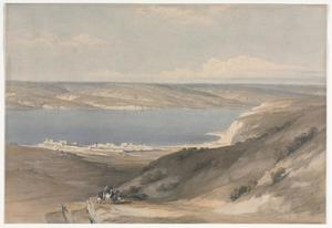 David Roberts - Sea Of Galilee À Genezareth Regard vers Basan