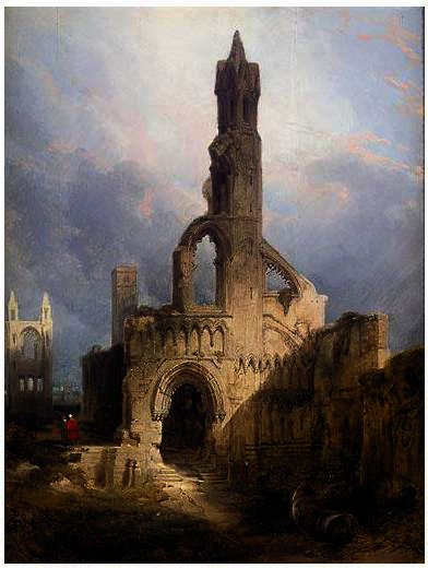 les ruines de st Andrews Cathédrale de David Roberts (1796-1864, United Kingdom) | Reproductions De Peintures David Roberts | WahooArt.com