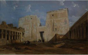 David Roberts - le temple de philae , Egypte