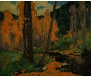 Eanger Irving Couse - Jusqu à Taos Canyon