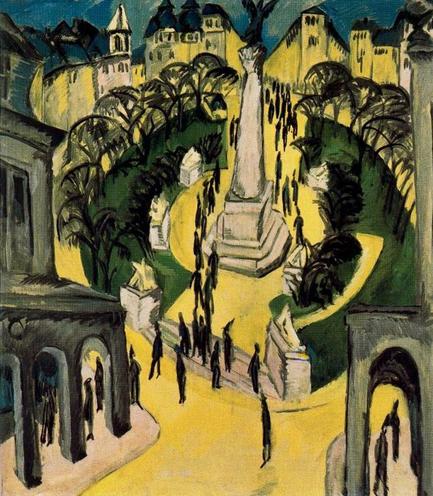 Belle-Alliance Platz , Berlin de Ernst Ludwig Kirchner (1880-1938, Germany)