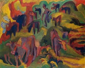Ernst Ludwig Kirchner - Vaches qui paissent