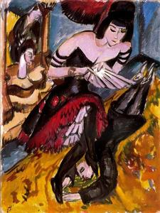 Ernst Ludwig Kirchner - Pantomime Reimann, Revenge of the dancer