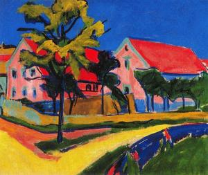 Ernst Ludwig Kirchner - rouge maisons