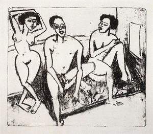 Ernst Ludwig Kirchner - Trois niggers nus