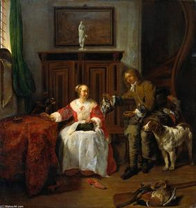 Gabriel Metsu - Present The Hunter