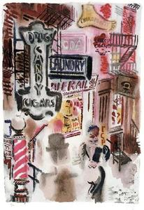 George Grosz - Bagdad-on-the-Métro, New York, Le Print Club de