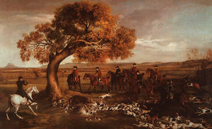 George Stubbs - Le Grosvenor Hunt