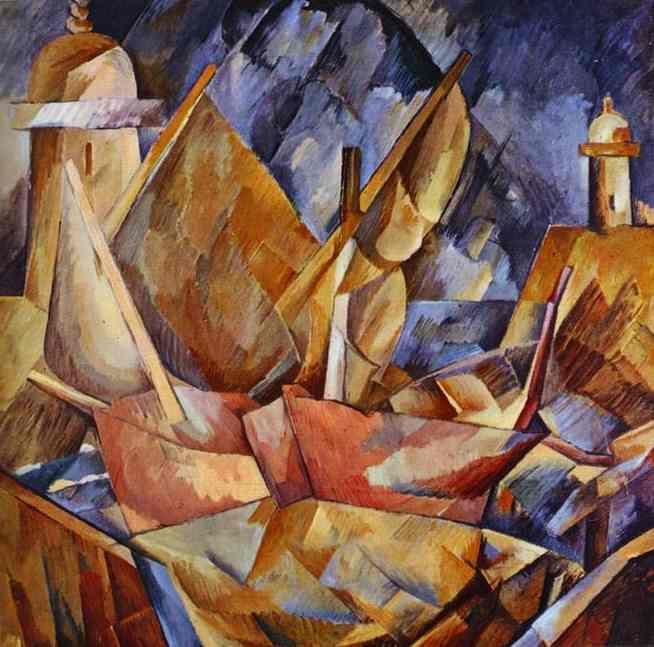 Port en normandie huile sur toile de georges braque 1882 for Braque peintre