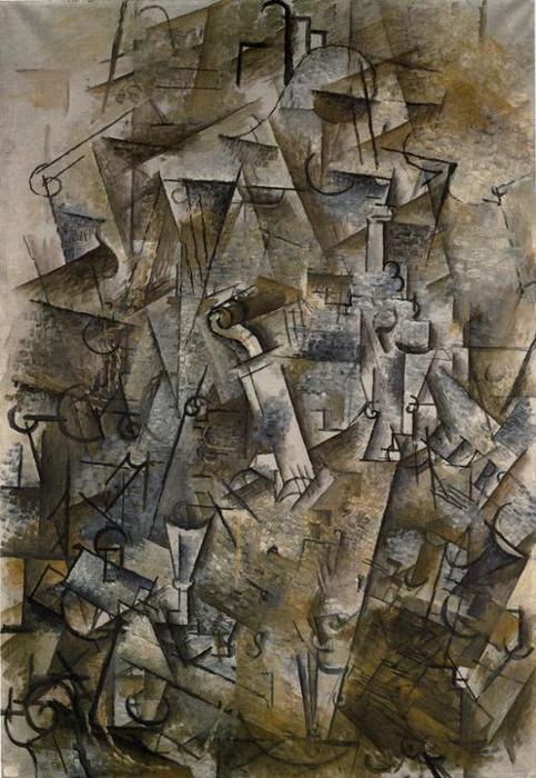 Nature morte avec harpe et violon huile sur toile de for Braque oeuvres
