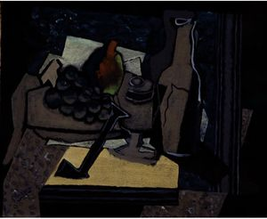 Georges Braque - Nature morte à la pipe