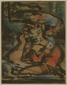 Georges Rouault - femme à un table ( l entremetteuse )