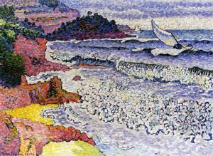 Henri Edmond Cross - La mer Lapping