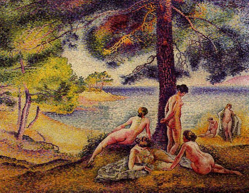 The Beach Shady de Henri Edmond Cross (1856-1910, France) | Reproduction Peinture | WahooArt.com
