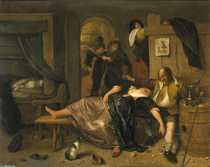 Jan Steen - Le couple ivre