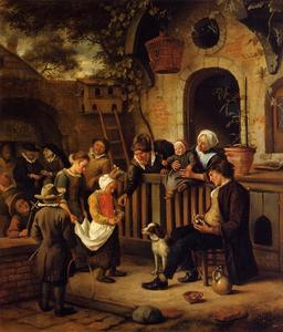 Jan Steen - Le Petit Alms Collector