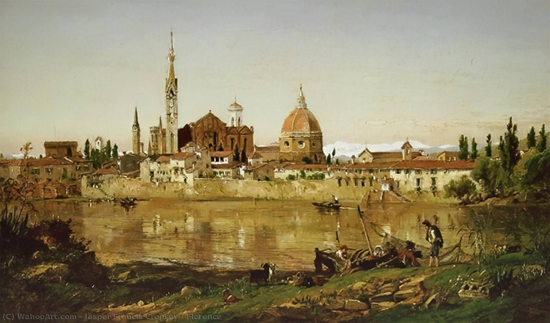 Florence de Jasper Francis Cropsey (1823-1900, United States)