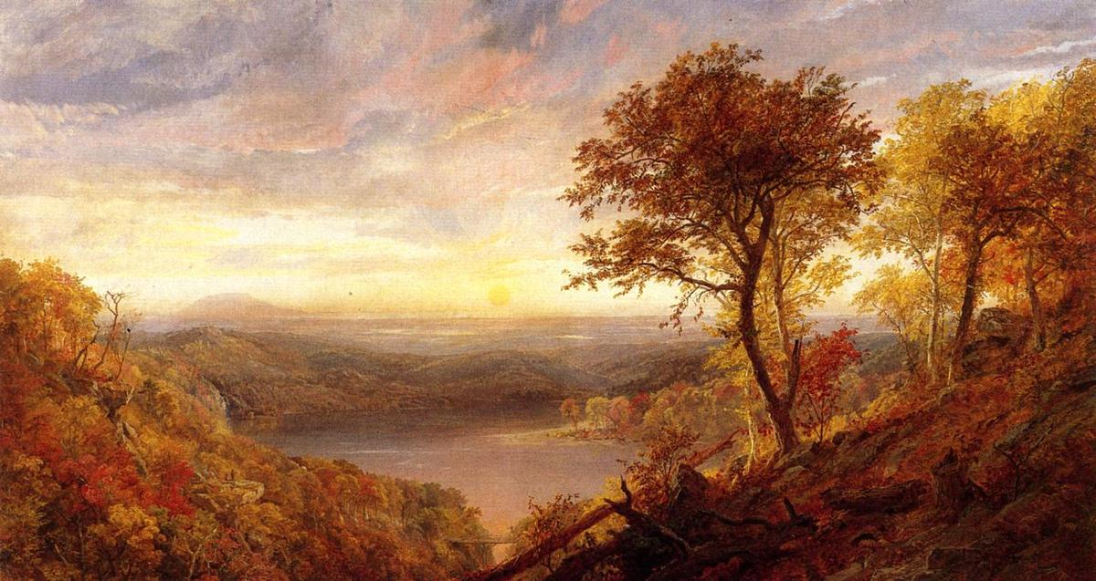 Greenwood Lake, huile sur toile de Jasper Francis Cropsey (1823-1900, United States)