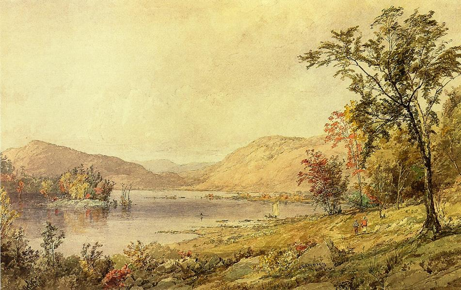 Greenwood Lac , new jersey de Jasper Francis Cropsey (1823-1900, United States)