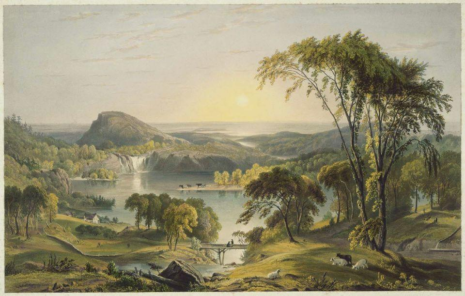 lac ontario , new york de Jasper Francis Cropsey (1823-1900, United States)