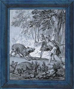 Jean-Baptiste Oudry - Hommes Loups Attaquer
