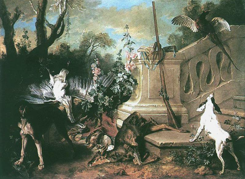 The Dead Roe de Jean-Baptiste Oudry (1686-1755, France) | Reproductions D'art Sur Toile | WahooArt.com